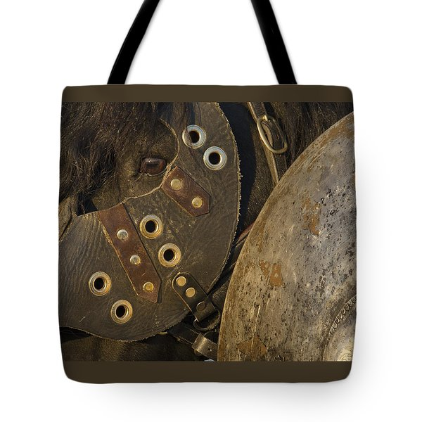 Dressed For Battle Tote Bag by Wes and Dotty Weber