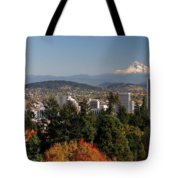 Dressed In Fall Colors Tote Bag by Wes and Dotty Weber