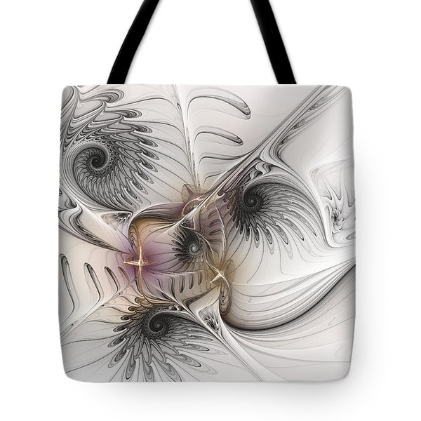 Tote Bag featuring the digital art Dressed In Silk And Satin by Karin Kuhlmann