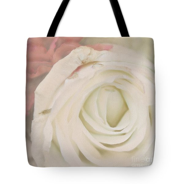 Dressed In White Satin Tote Bag by Cindy Garber Iverson