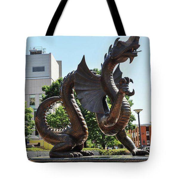 Tote Bag featuring the photograph Drexel University Dragon - Philadelphia Pa by Bill Cannon