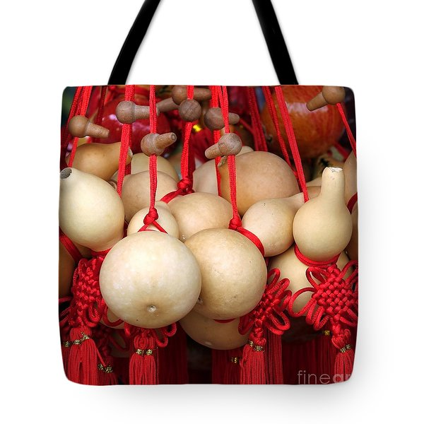Dried Gourds With Red Tassels Tote Bag