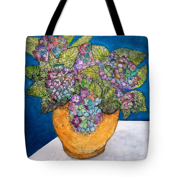 Dried Hydrangea Tote Bag