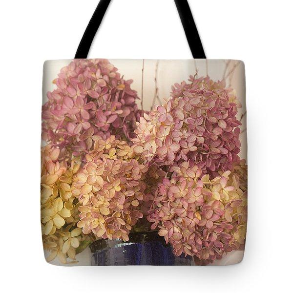 Dried Hydrangea Tote Bag