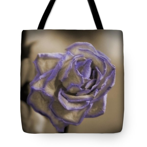 Dried Rose In Sienna And Ultra Violet Tote Bag
