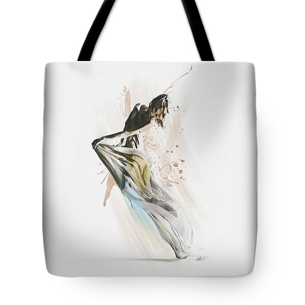 Tote Bag featuring the digital art Drift Contemporary Dance by Galen Valle