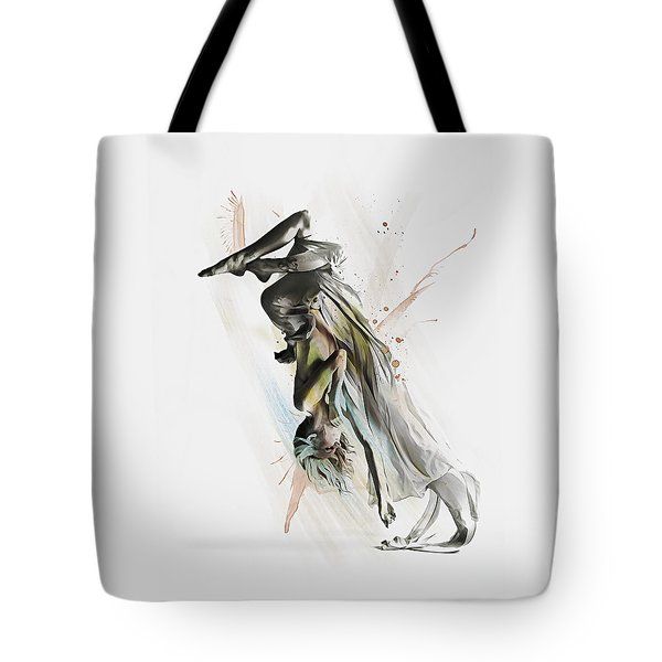 Tote Bag featuring the digital art Drift Contemporary Dance Two by Galen Valle