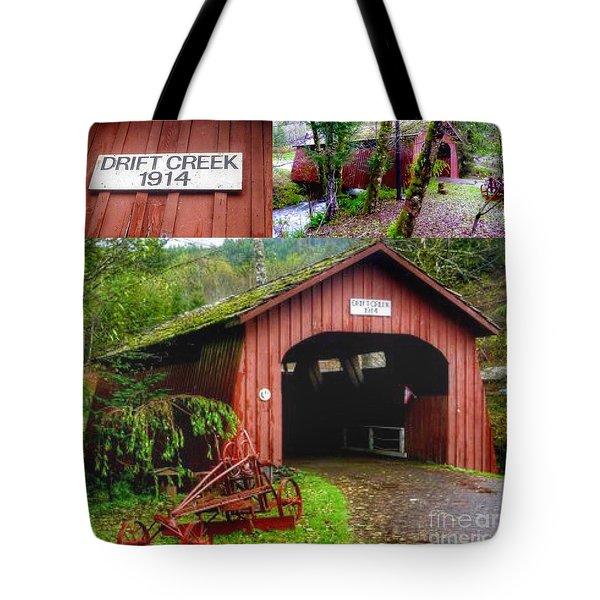 Drift Creek Covered Bridge Tote Bag by Susan Garren