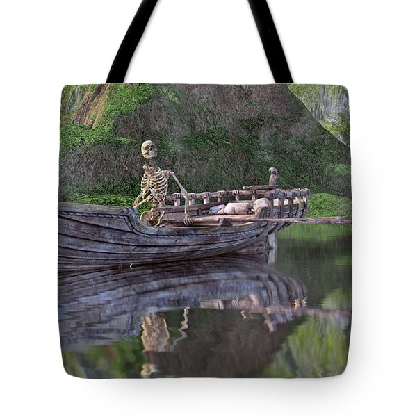 Drifter On The Lake Tote Bag