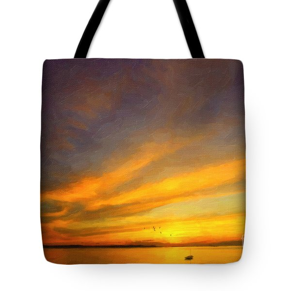 Tote Bag featuring the photograph Drifting by Chris Armytage