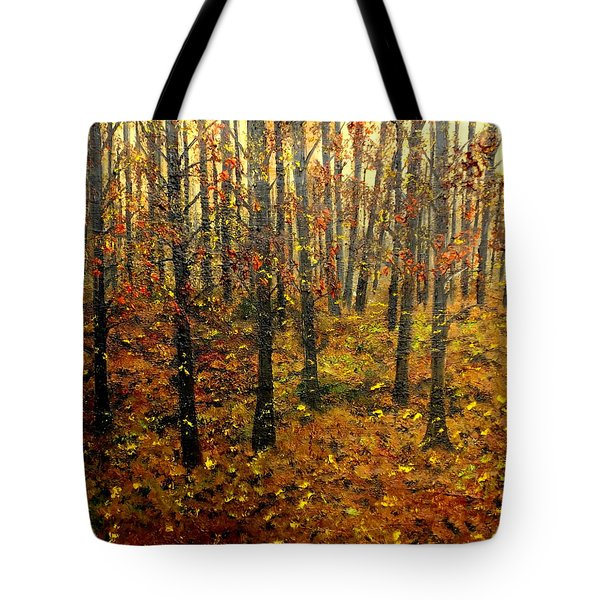 Drifting On The Fall Tote Bag