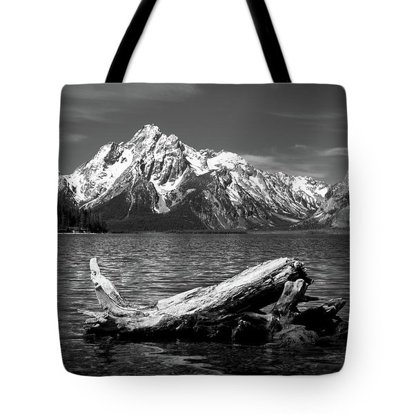 driftwood and Mt. Moran Tote Bag