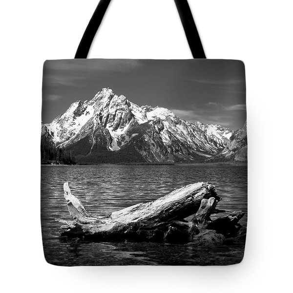 driftwood and Mt. Moran Tote Bag