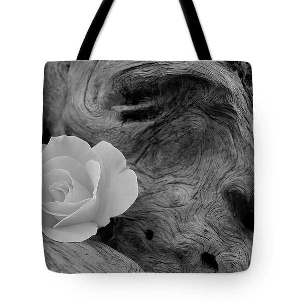 Driftwood And Roses Tote Bag