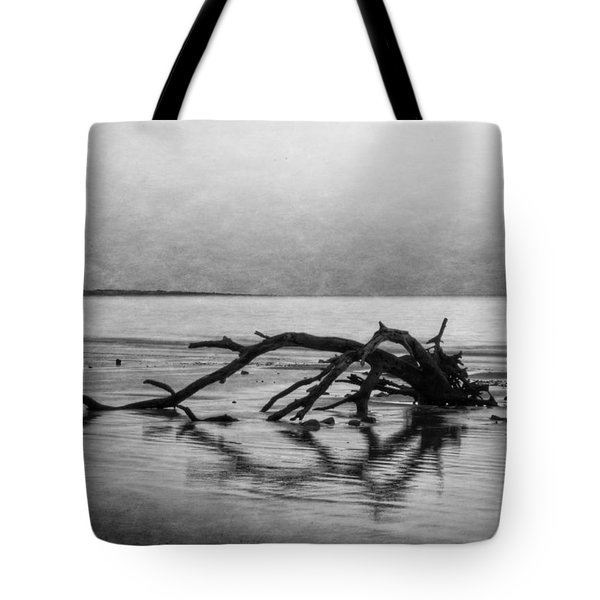 Driftwood Dream In Black And White Tote Bag