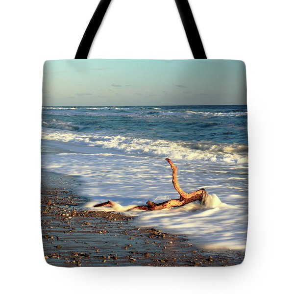 Driftwood In The Surf Tote Bag by Roupen  Baker