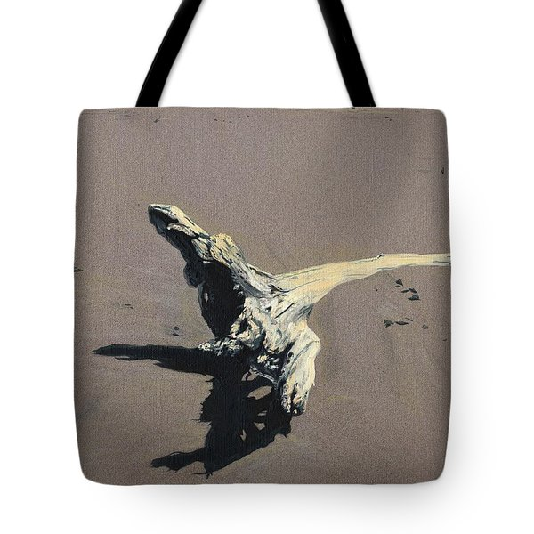 Tote Bag featuring the painting Coastal Driftwood by Jason Girard