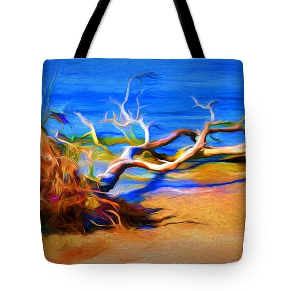 Tote Bag featuring the photograph Driftwood by Ludwig Keck