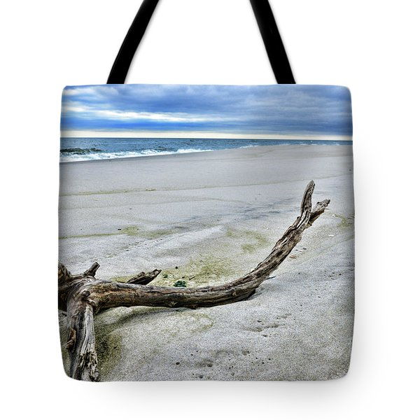 Tote Bag featuring the photograph Driftwood On The Beach by Paul Ward