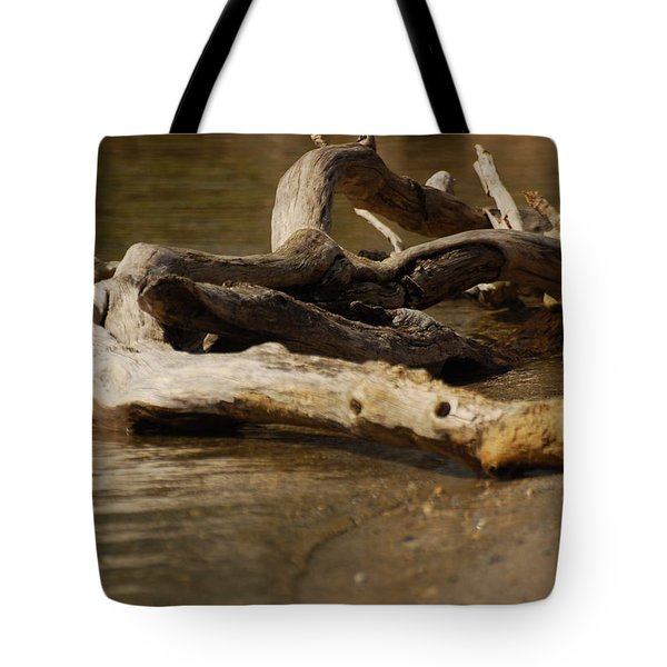 Tote Bag featuring the photograph Driftwood by Ramona Whiteaker