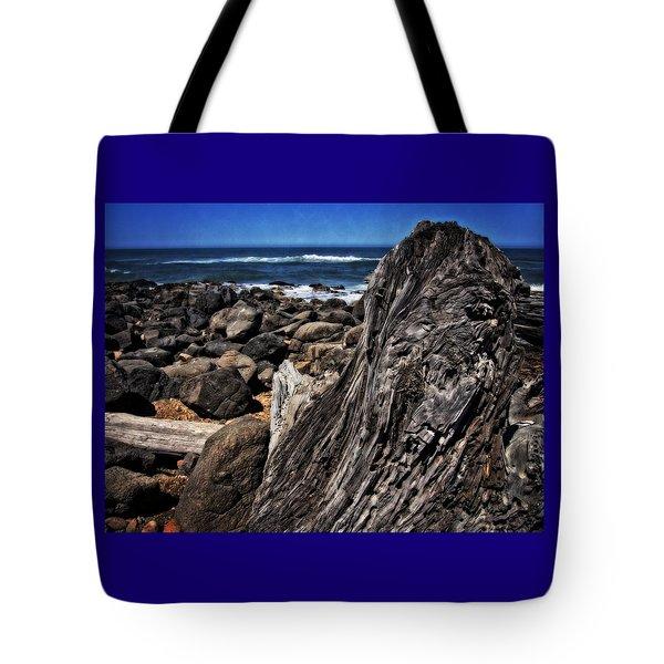 Driftwood Rocks Water Tote Bag