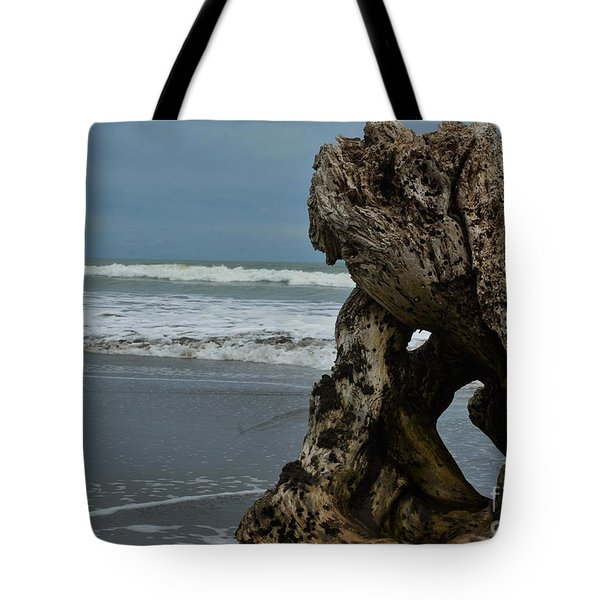 Driftwood With A View Tote Bag by Pamela Blizzard