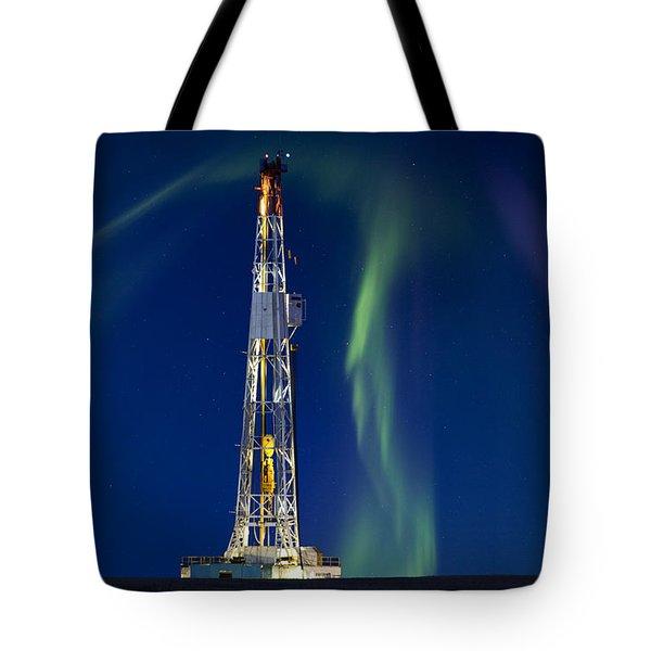 Drilling Rig Saskatchewan Tote Bag by Mark Duffy