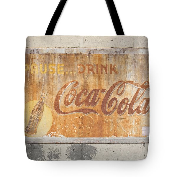 Tote Bag featuring the photograph Drink Coca Cola by Mark Greenberg