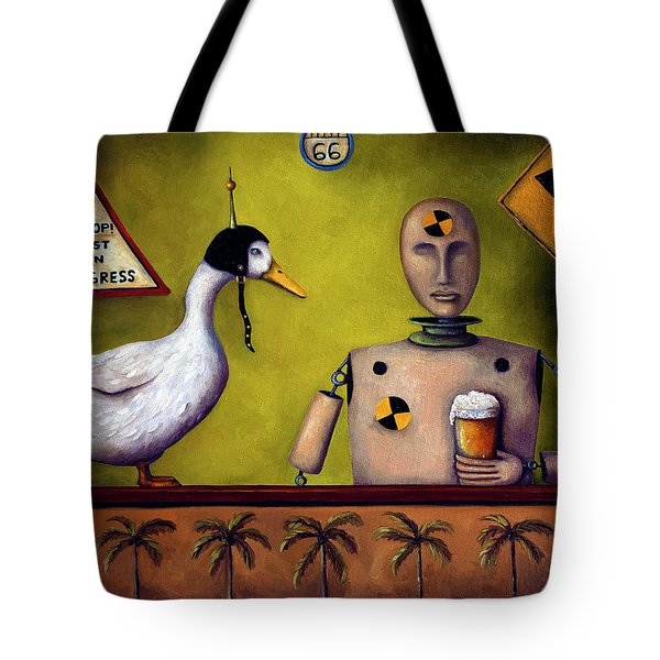 Drink Test Dummy Tote Bag by Leah Saulnier The Painting Maniac