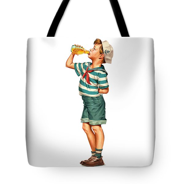 Tote Bag featuring the digital art Drink Up Sailor by ReInVintaged