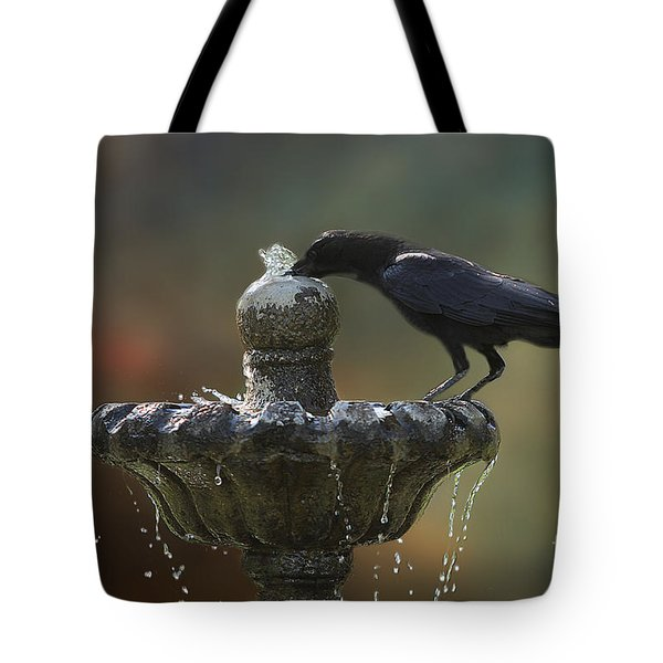 Drinking Crow Tote Bag