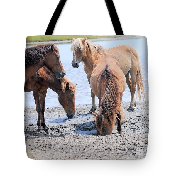 Drinking Fresh Water Tote Bag
