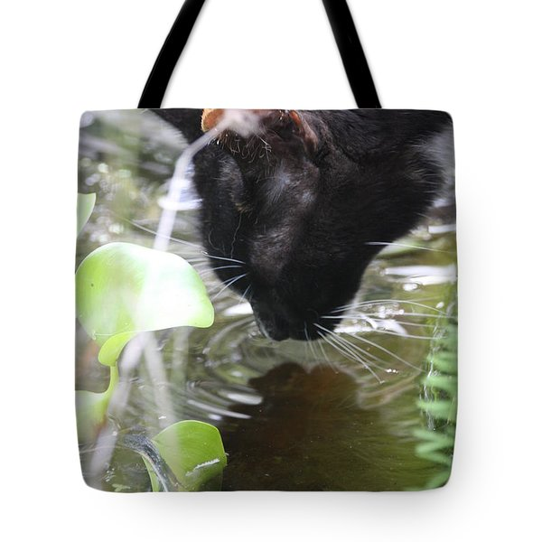 Drinking Kitty Tote Bag