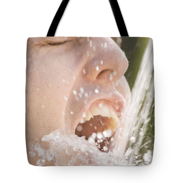 Drinking Man Tote Bag by Jorgo Photography - Wall Art Gallery