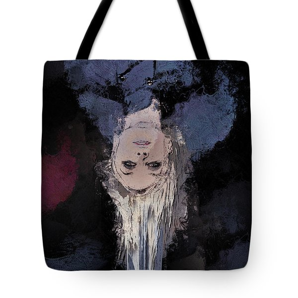 Tote Bag featuring the digital art Drip by Galen Valle
