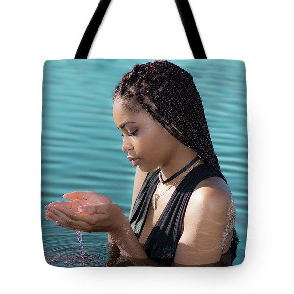 Driping Water Tote Bag