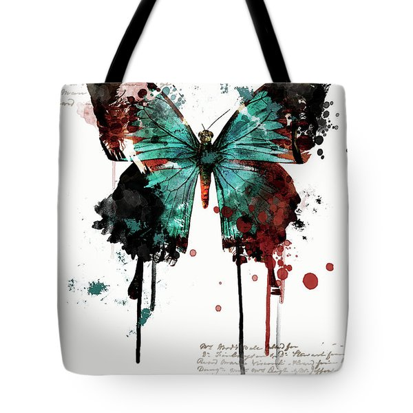Dripping Butterfly Tote Bag