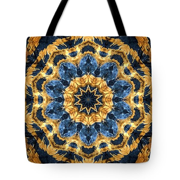 Dripping Gold Kaleidoscope Tote Bag
