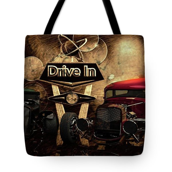 Tote Bag featuring the photograph  Drive In by Louis Ferreira