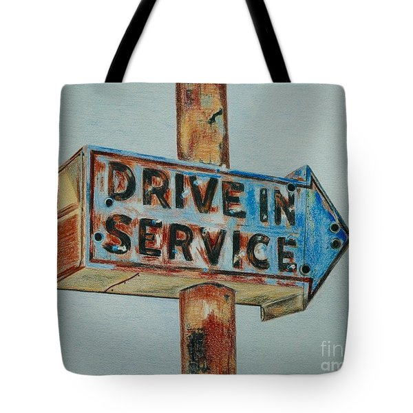 Drive In Service Tote Bag