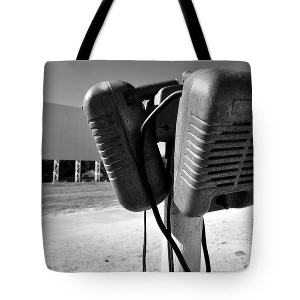 Drive In Speakers Tote Bag by David Lee Thompson