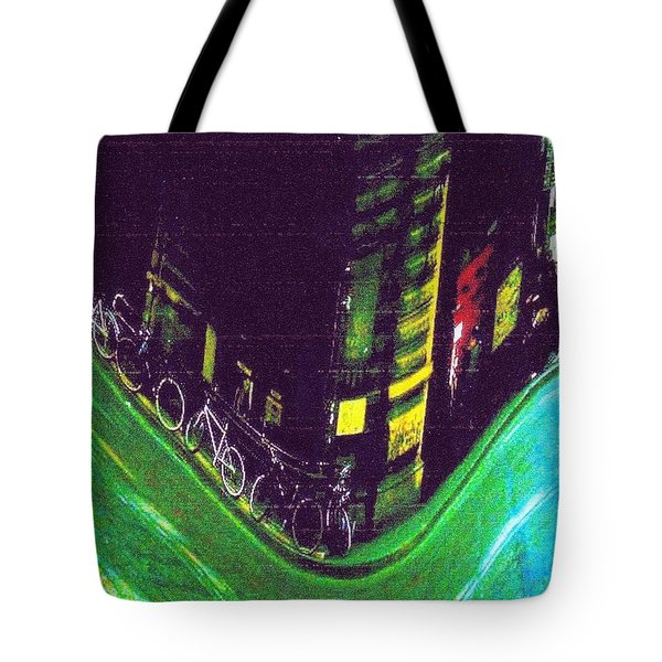 Driving By - Night Time In Bologna Tote Bag