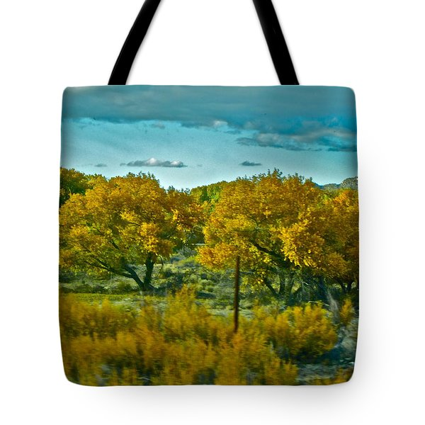 Driving Foliage Tote Bag by Gwyn Newcombe