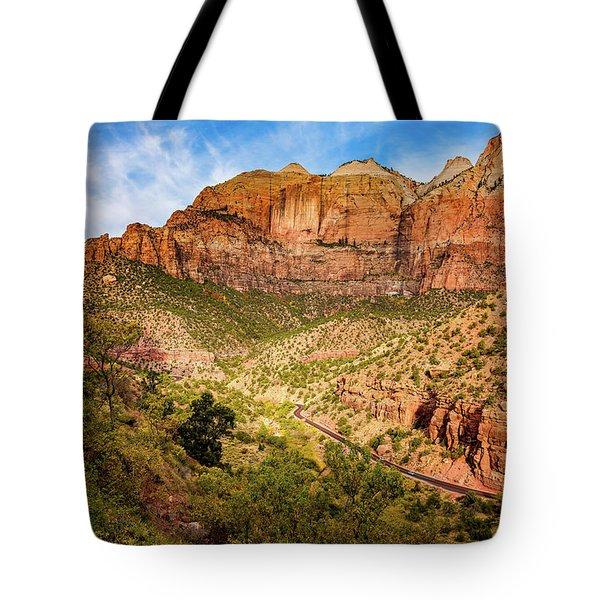 Driving Into Zion Tote Bag