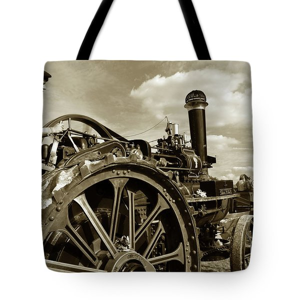 Driving The Engine Tote Bag by Rob Hawkins
