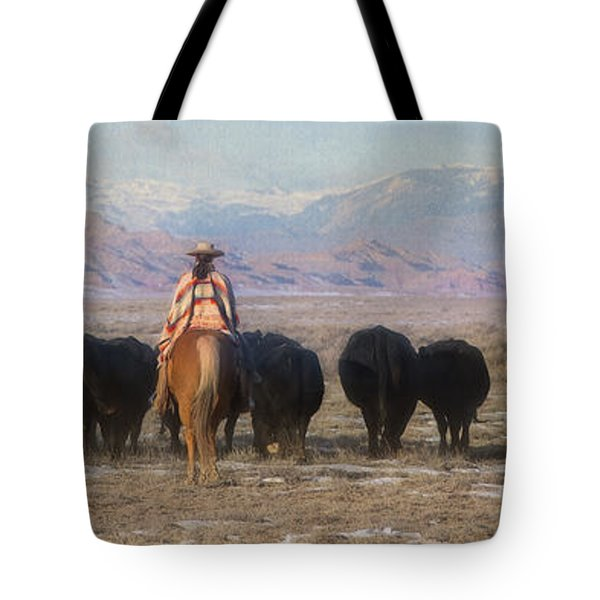 Driving The Herd Tote Bag
