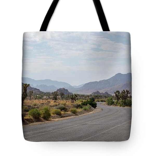 Driving Through Joshua Tree National Park Tote Bag
