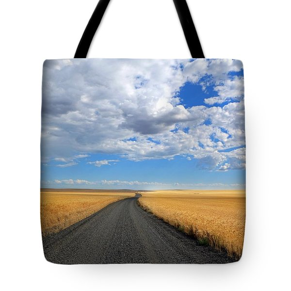 Driving Through The Wheat Fields Tote Bag