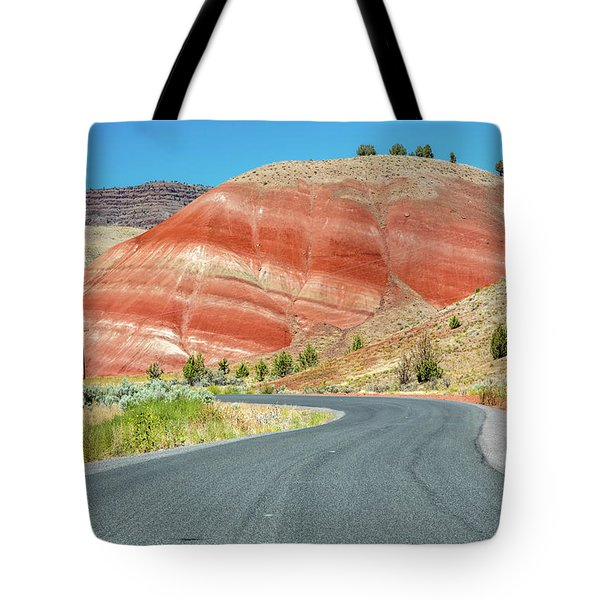 Tote Bag featuring the photograph Driving To Painted Hills by Pierre Leclerc Photography