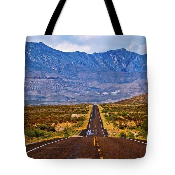Driving To The Blue Tote Bag